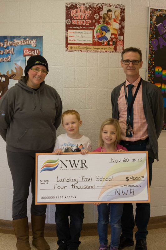 Local schools receive cheque