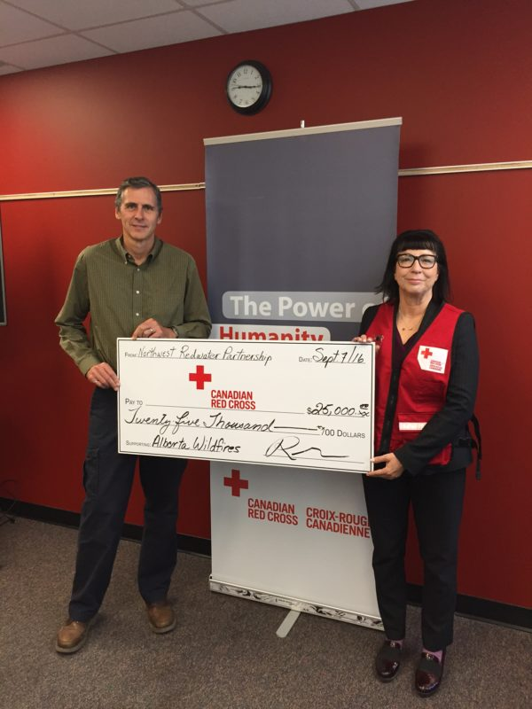 NWR gives check to Red Cross